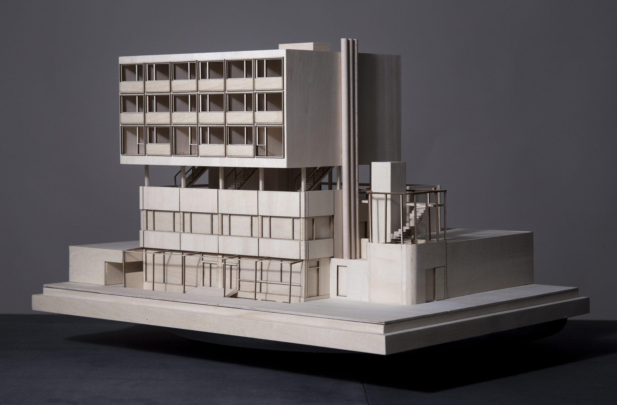 conceptual model architecture maqueta obra publica