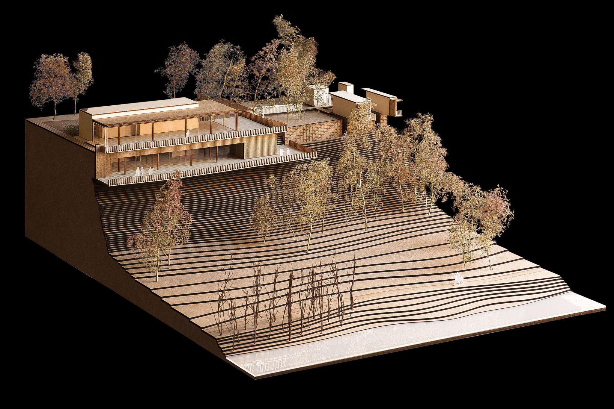 models architectural wooden mountain architecture 3d maquette maqueta hostel arquitectura
