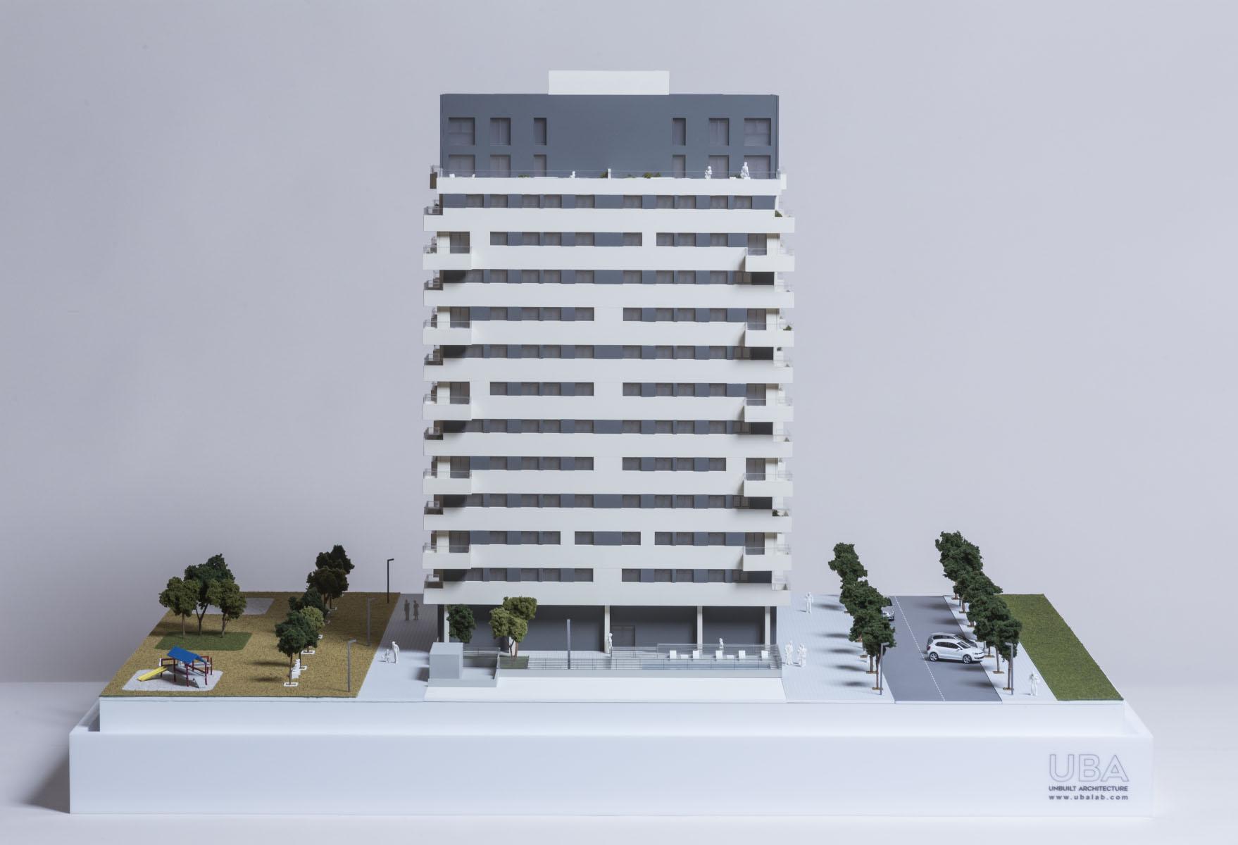 maqueta viviendas promocion