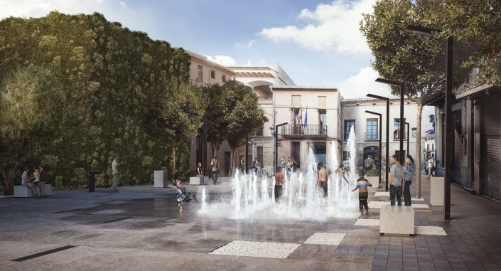 Main Square in Alboraya | Negrosobreazul