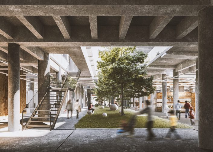 Commercial docks building rehabilitation in Valencia