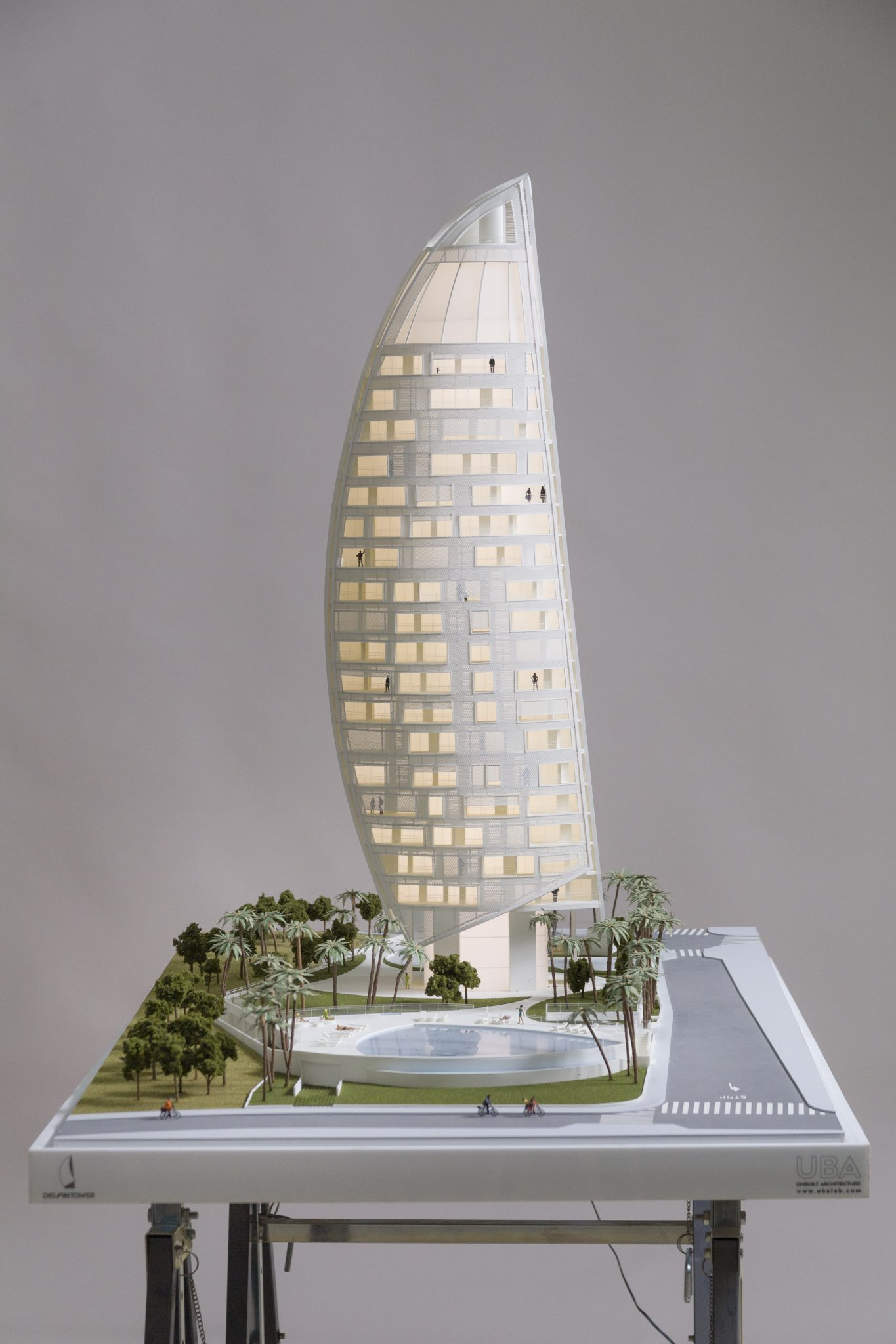 delfin tower model maqueta viviendas